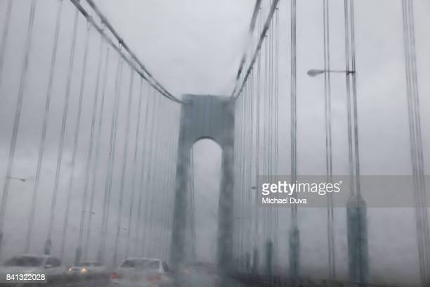 Verrazano Bridge in inclement weather