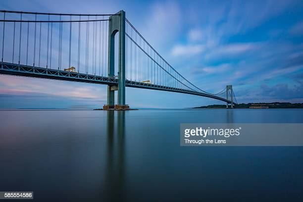 Verrazano Narrows Bridge during Sunrise