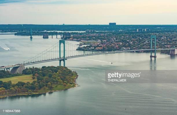 ponte de verrazzano narrows new york - ilha staten - fotografias e filmes do acervo