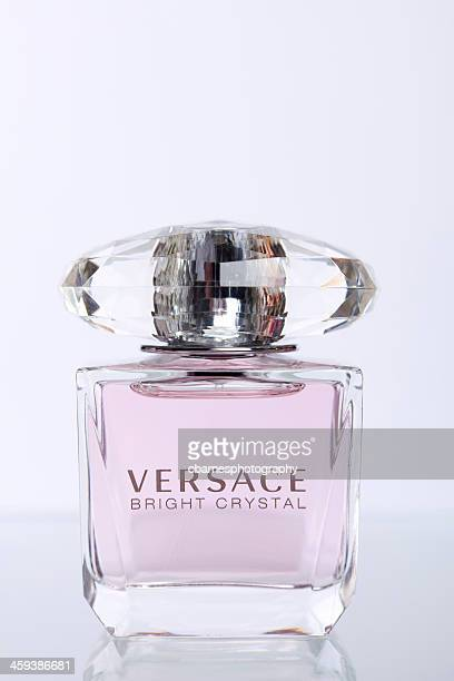 versace bright crystal - versace designer label stock photos and pictures