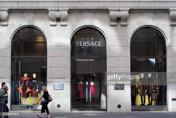Versace clothing store on Fifth Avenue in Midtown Manhattan New York City
