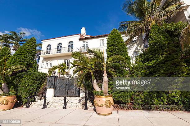 Versace mansion. In 1997 the world gasped as Gianni Versace was shot to death on the doorstep of his Miami South Beach mansion in Miami, USA.