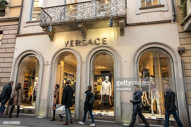 Versace Store on Via Monte Napoleone, Milan