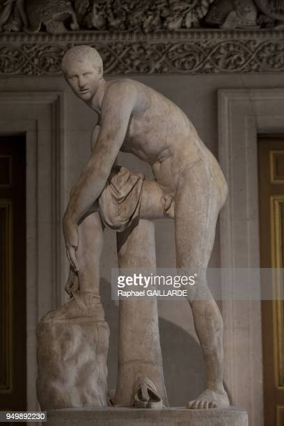 Versailles and the Classic ArtCincinnatus Savelli or Hermes marble related her sandal work created about 320 BC by Lysippe on November 12 2012 in...