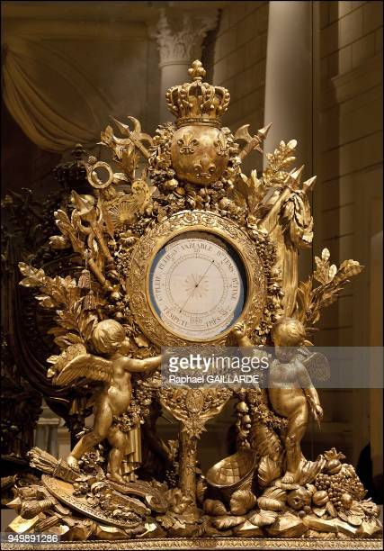 Versailles and the Classic ArtGreat barometer of Louis XV gilt by Maziere sculpted by Lemaire 17721774 on November 12 2012 in Versailles France