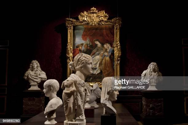 Versailles and the Classic Arton the left Louis XIV by Jean Warin 16651666 and young roman bust in the center busts of Ceres Niobe at the background...