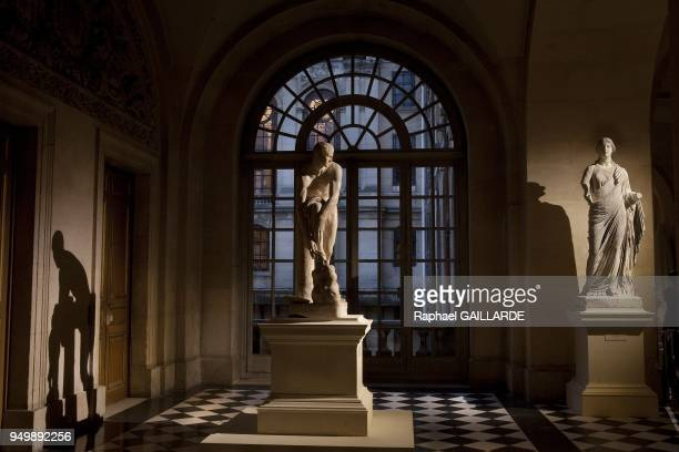 Versailles and the Classic ArtPierre Basse Gallery at night Ceres also known as Faustina with Pomona the fruit in his both hands raised drapery on...