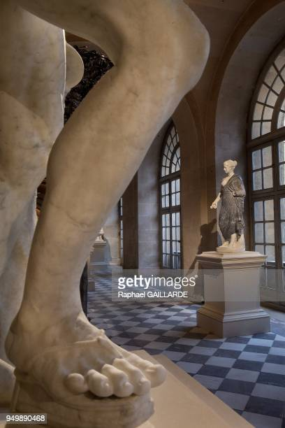Versailles and the Classic ArtPierre Basse Gallery Roman antiquity statue Flore on November 12 2012 in Versailles France