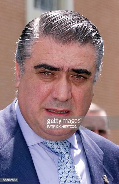 A file photo taken 23 May 2000 shows former Real Madrid president Lorenzo Sanz during a press conference in Versailles Parisian suburb Sanz is to...