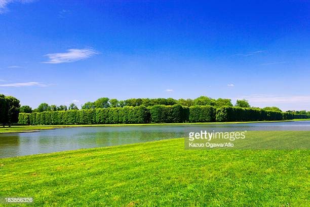 versailles palace canals, france - yvelines stock pictures, royalty-free photos & images