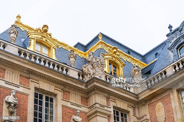versailles palace detail - versailles stock pictures, royalty-free photos & images