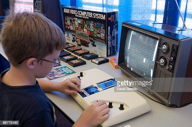A version of Pong is played on the orignial Magnovox Odyssey 200 during the launch party for the International Video Game Hall of Fame and Museum on...
