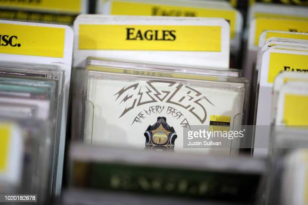 CD version of The Eagles album 'Their Greatest Hits 19711975' is displayed at Amoeba Music on August 20 2018 in San Francisco California The Eagles...