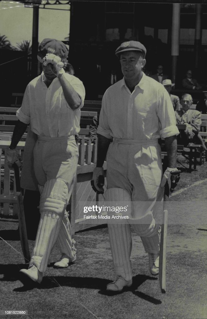 MCC versus NSW Cricket Starts.NSW Opening batsmen Jim Burke and Sid Carroll going in to bat against MCC at the cricket Ground today. : News Photo