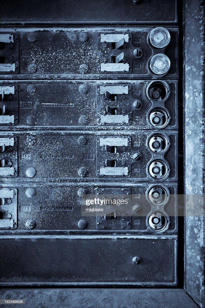 vertical antique fuse box stock photo getty images rh gettyimages com antique fuse box with meter Ford Econoline Van Fuse Panel