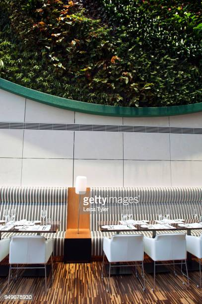 A vertical garden in the lobby of Hotel ICON in Hong Kong
