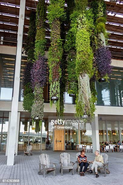 Vertical garden outside the Jorge M Perez Art Museum Miami