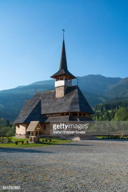 vertical image of pietroasa monastery - siebenbürgen stock-fotos und bilder