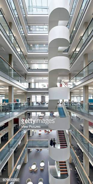 Vertical panorama of atrium 5 Pancras Square London United Kingdom Architect Bennetts Associates Architects 2014