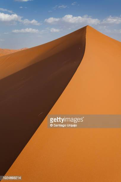 vertical sand dune - merzouga stock pictures, royalty-free photos & images