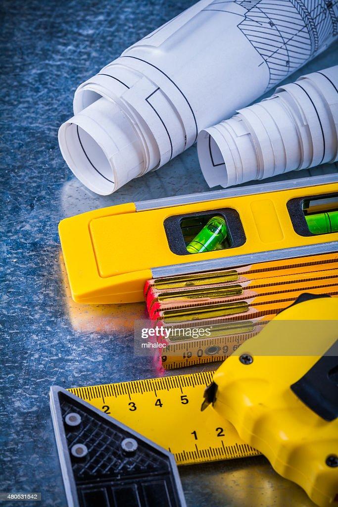Verticale versione di casa miglioramento strumenti di lavoro in metallo : Foto stock