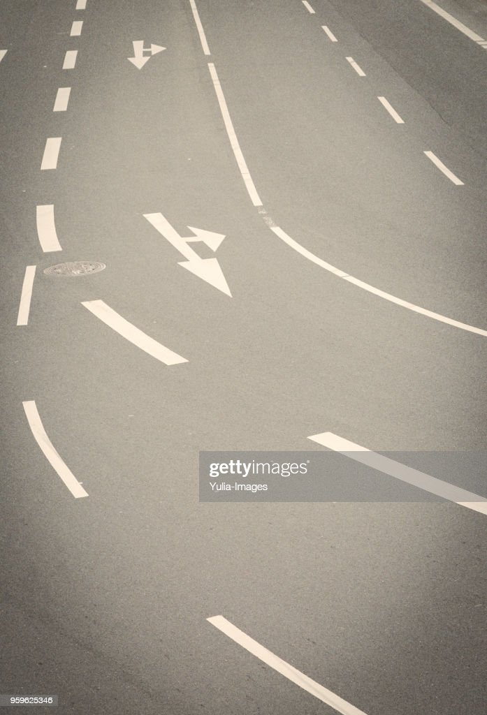 Vertical view of a large street in Germany : Stock-Foto
