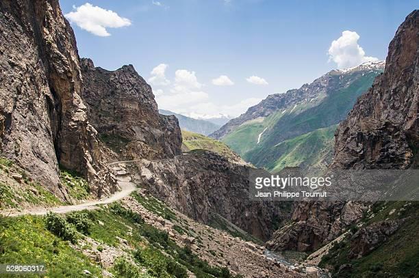 Vertigineous Pamir highway, Tajikistan
