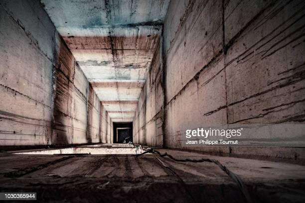 vertigo - abandoned elevator shaft - former yugoslavia stock pictures, royalty-free photos & images