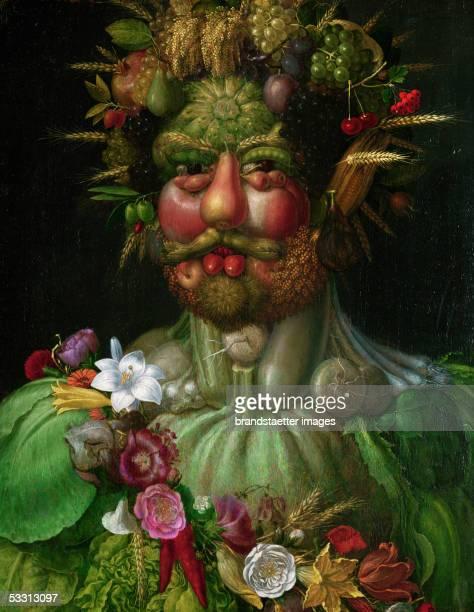 Vertumnus 1590 Oil on wood 705 x 575 cm [Vertumnus 1590 Oel/Holz 705 x 575 cm]