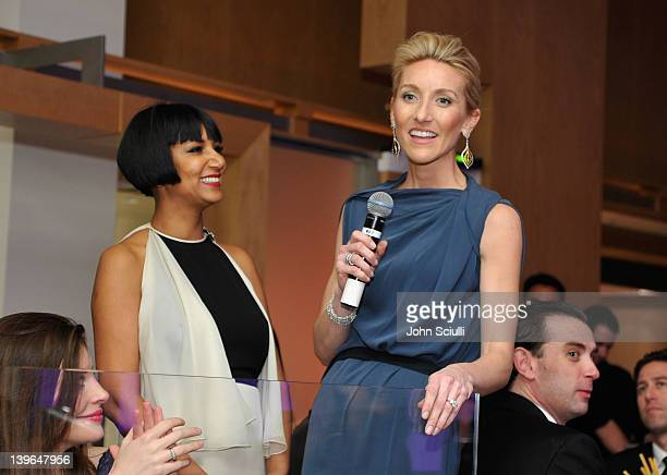 Vertu's Casey Gorman speaks at Vertu and Gelila and Wolfgang Puck Celebrate the Oscars and Dream for Africa Foundation at CUT on February 23, 2012 in...