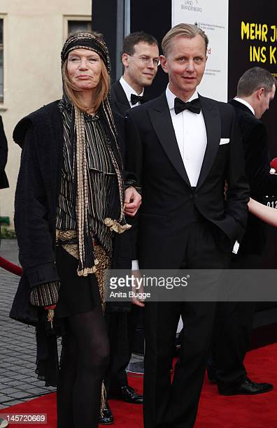 Veruschka von Lehndorff and Max Raabe attend the Opening Gala of the 18th Jewish Film Festival Berlin Potsdam at Hans Otto Theater on June 4 2012 in...
