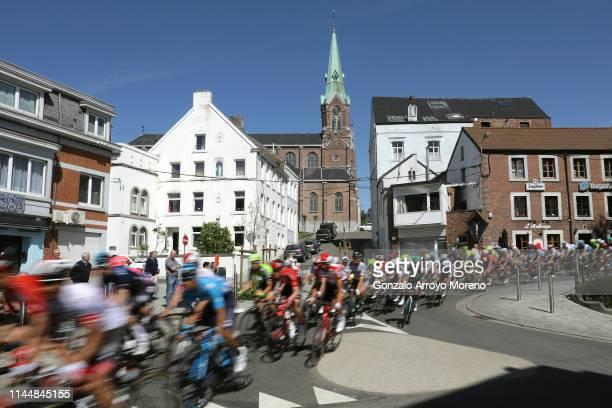 Verviers City / Peloton / Landscape / Church / during the 83rd La Fleche Wallonne 2019 a 1955km race from Ans to Mur de Huy 204m / TF /...