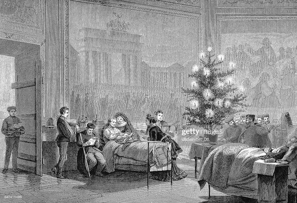 verwundete deutsche Soldaten an Weihnachten in den Ruhmeshallen im ...