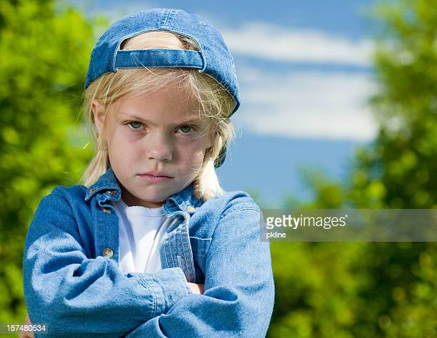 very angry tomboy - tomboy stock photos and pictures