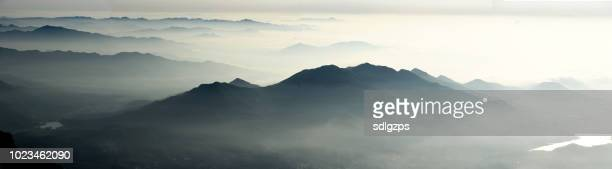 very beautiful mount taishan scenery after the rain - national drunk stock photos and pictures
