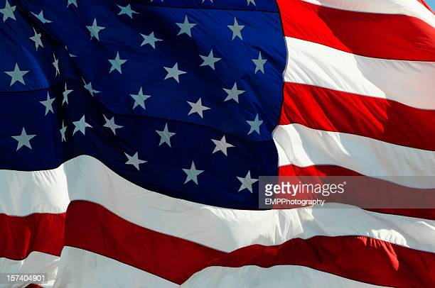 Very Close Up Portrait  American Flag of Honor