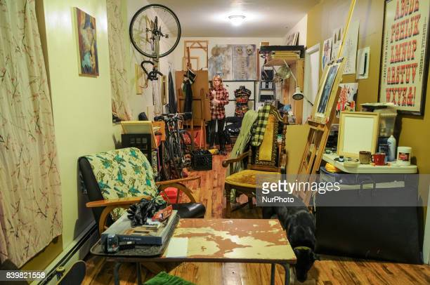 A Very Cluttered Messy Apartment Of Artistusicians In Bushwick Brooklyn On 3 December 2008