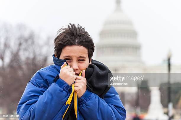 very cold in Washington DC