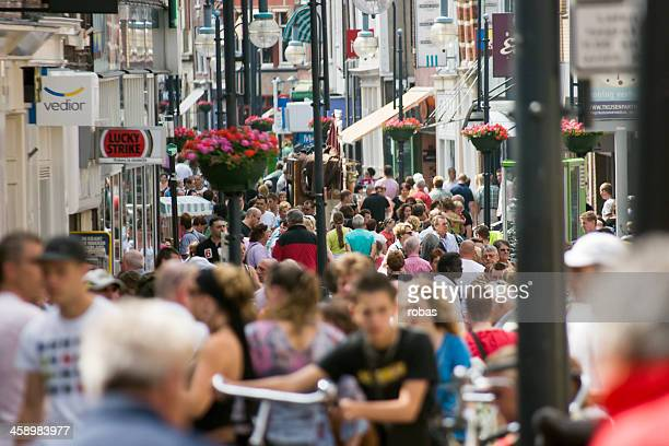 Very crowded street in the center of Gorinchem