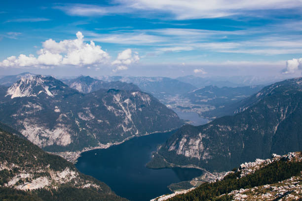 Very Famous Austrian Destination With A Cloud Of Tourists Every Day. View From Krippenstein