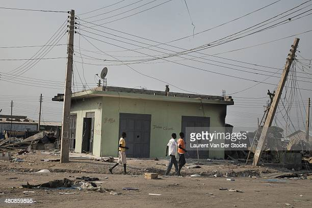JANUARY 30 2014 Very few inhabitants stayed in the plundered and destroyed center of Bor Photograph Laurent Van der Stockt/Edit by Getty Images