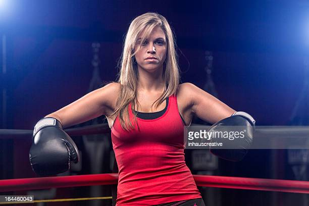 Very Fit Woman in Boxing Corner