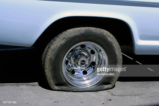 very flat tire - flat tire stock pictures, royalty-free photos & images