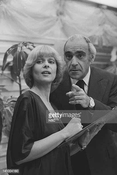 SUPERTRAIN A Very Formal Heist Episode 6 Aired 4/14/79 Pictured Ilene Graff as Social Director Penny Whitaker Abe Vigoda as Ray Yellburton Photo by...