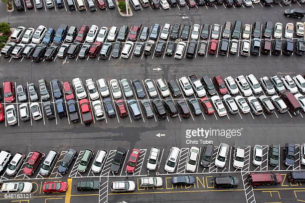 Very full parking lot