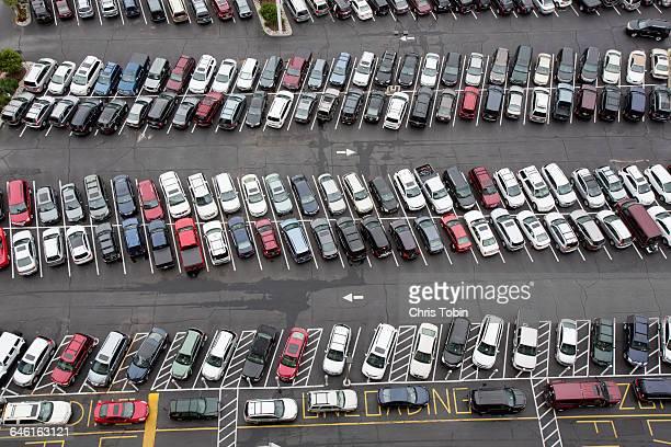 Very full parking lot