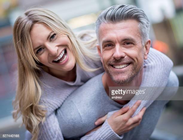 Very happy loving couple