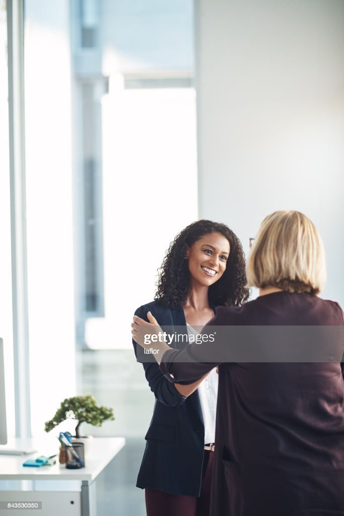 Very happy to be working with you : Stock Photo
