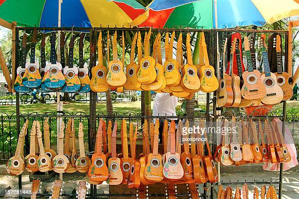 A very large amount and different types of ukuleles