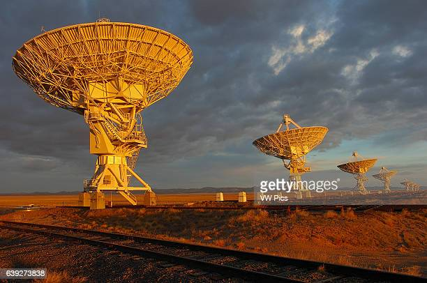 Very Large Array at Sunrise, Radio Telescope Complex, National Radio Astronomy Observatory, Plain of San Agustin, New Mexico.